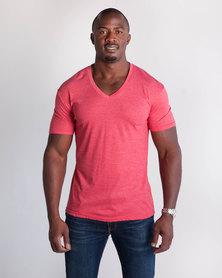 Emme Jeans Regular V-Neck T-Shirt Red