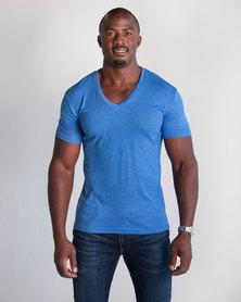 Emme Jeans Regular V-Neck T-Shirt Royal Blue