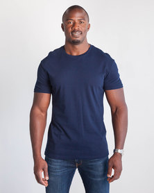 Emme Jeans Regular Crew Neck T-Shirt Navy