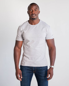 Emme Jeans Regular Crew Neck T-Shirt Light Grey