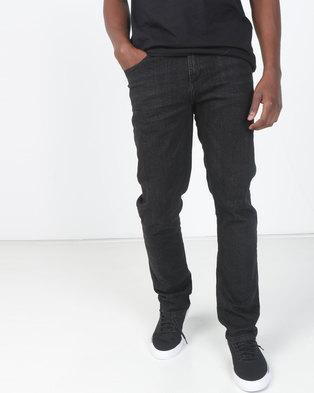1d9e83d1450941 Crosshatch Black Melfort Slim Fit Denim Jean