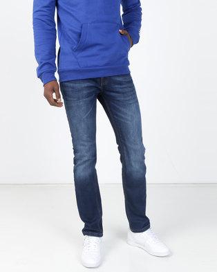 7c3076584 Crosshatch Buraca Slim Fit Denim Jeans Dark Wash