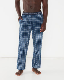Crosshatch Hager Check Loungepants Blue