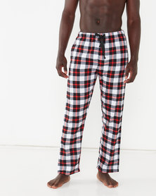Crosshatch Gonsar Check Loungepants Red