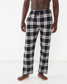 Crosshatch Koppes Check Loungepants Grey