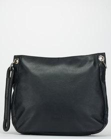 Bossi Fossil Leather Sling Bag Black
