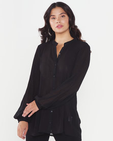 Utopia A-line Viscose Tunic Black