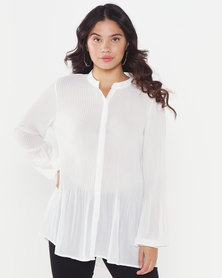 Utopia A-line Viscose Tunic White