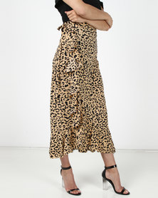 Utopia Wrap Skirt Animal Print