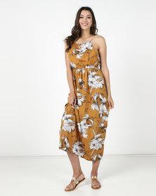 Utopia Floral Maxi Dress Mustard