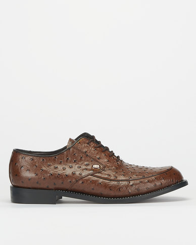 Barker Goodyear Welted Emu Brown Formal Shoes