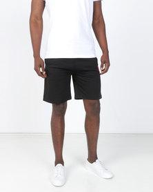 Smith & Jones Balius Fleece Shorts Black