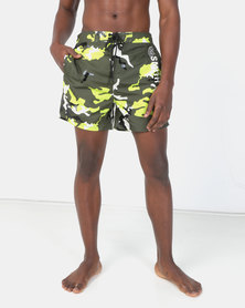 Smith & Jones Forest Green Night Melvin Camo Swim short