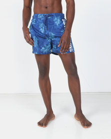 Smith & Jones Sodalite Blue Camarda Floral Swim short