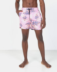 Smith & Jones Orchid Pink Smoke Camarda Floral Swim short