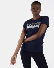 Perfect Logo Graphic Tee Navy