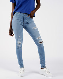 720 High Rise Super Skinny Jeans Blue