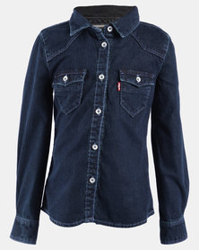 Western Shirt Dark Blue