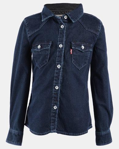 Western Shirt Dark Blue