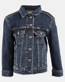 Girls Denim Trucker Jacket Blue
