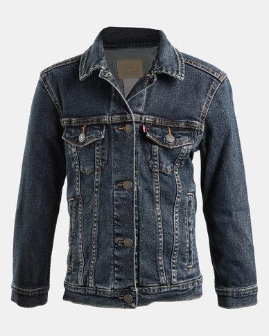 Big Girls Denim Trucker Jacket Blue