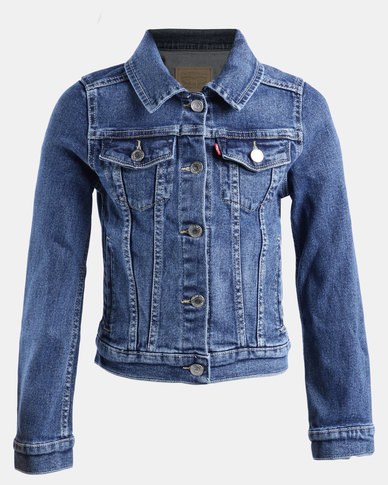 Big Girls Denim Trucker Jacket Blue