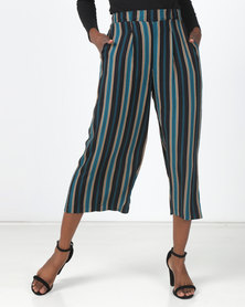 Legit Stripe Pleat Front Culotte Multi