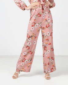 Legit Floral Wide Leg Pants Multi