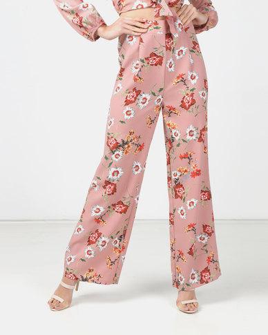 Legit Floral Wide Leg Pants Multi