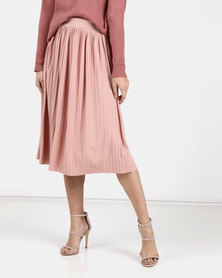 Legit Pleated Knit Skirt Blush