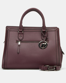 Bata Simple Handbag Burgundy