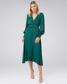 Forever New Evie Midi Dress Deep Ivy