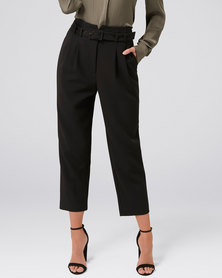 Forever New Gemma Belted Pants Black