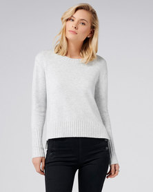Forever New Emma Crew Neck Jumper Iced Grey