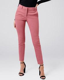 Forever New Faye full length slim pants Rosy Dawn