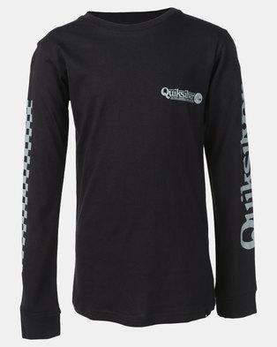 Quiksilver Boys Check It Long Sleeve T-Shirt Black