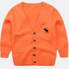 Boys Are Kings Cardigan Jersey Orange