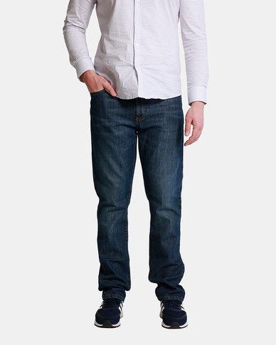 Emme Jeans Regular Zipfly Dark Wash Jeans Blue