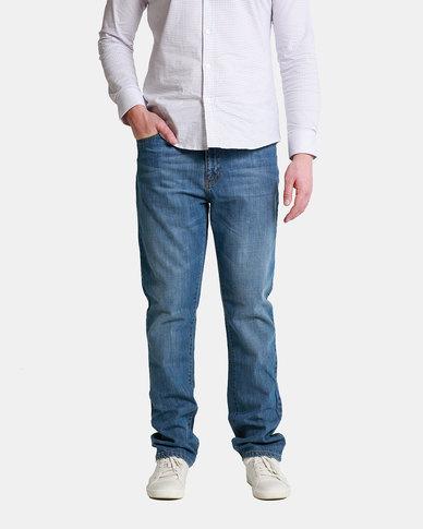 Emme Jeans Regular Zipfly Light Wash Jeans Blue