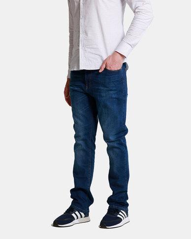 Emme Jeans Regular Dark Wash Jeans Blue