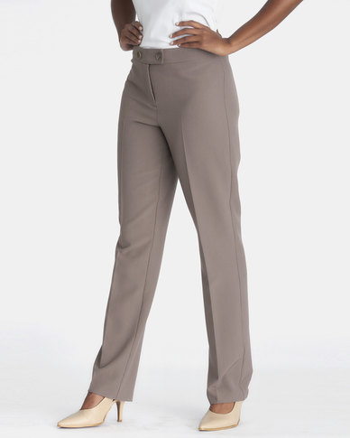 Contempo Pants With 2 Buttons Mocca