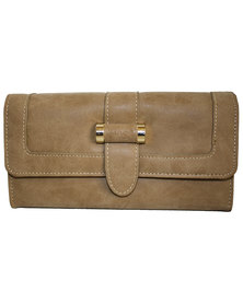 Fino Pu  Leather Ladies  Purse-Camel