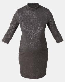 Hannah Grace Grey Side Zip Breastfeeding Dress