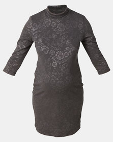 fa13df78a3a34 Hannah Grace Grey Side Zip Breastfeeding Dress