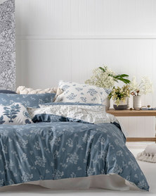 Linen House Blue Thelma Duvet Cover Set