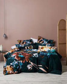 Linen House King Lara Duvet Cover Set Teal