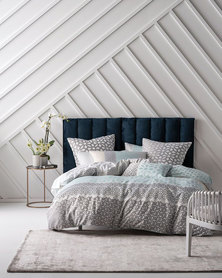 Linen House King Catarina Duvet Cover Set Aqua