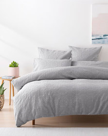 Linen House Queen Arabella Duvet Cover Set Silver