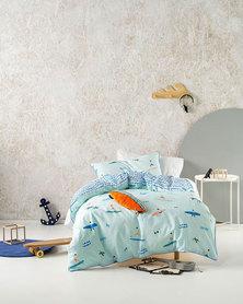 Linen House Three Quarter Sun and Surf Duvet Cover Set Blue