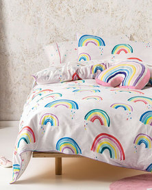 Linen House Rainbow Connection Duvet Cover Set Multi